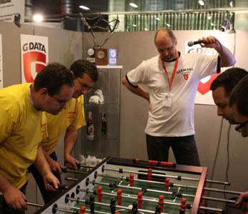 VB2015 foosball tournament, hosted by G Data
