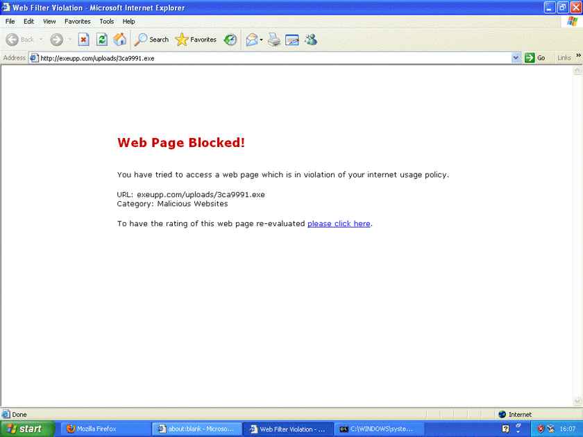 Web page blocked