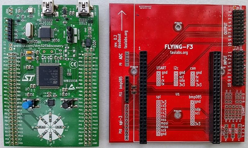 Figure 4 The Discovery F3 board and the Flying F3 shield.jpg