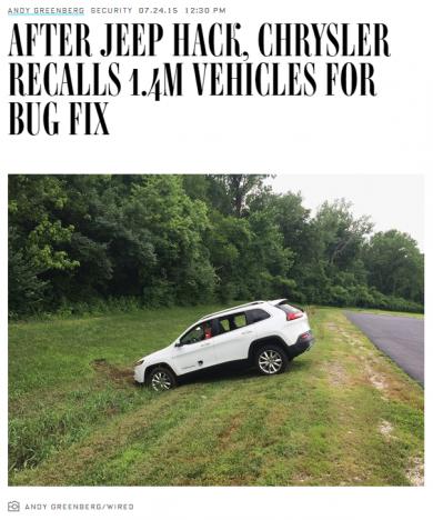 Virus Bulletin :: VB2018 paper: Under the hood: the automotive challenge