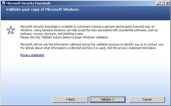 Virus Bulletin :: Microsoft Security Essentials
