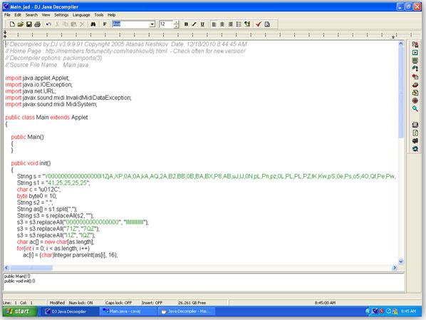 Decompile Java Applet