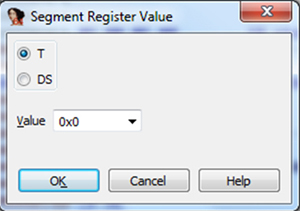 Virtual segment register T value definition – it should reflect the T bit of the processor state register (CPSR).