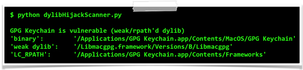 GPG Tools' vulnerable keychain app.