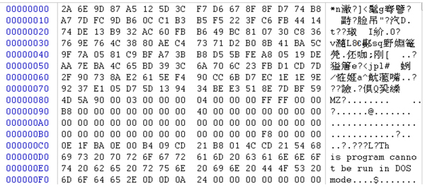 A piece of data decoded with BASE64.