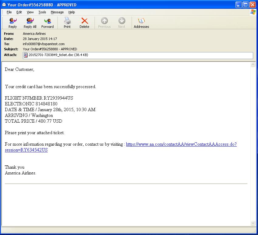 Virus Bulletin :: Vawtrak trojan spread through malicious